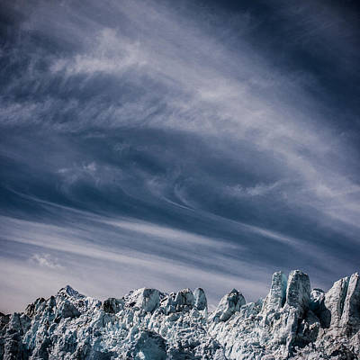 Glacier Clouds Poster by Dayne Reast