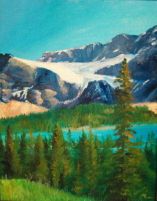 Poster featuring the painting Glacier by Ellen Canfield
