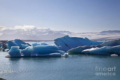 Glacier In Iceland Poster