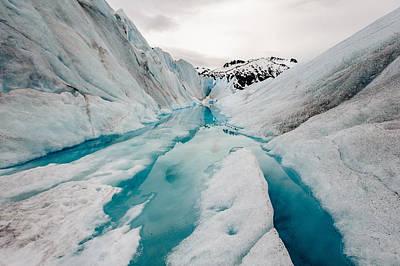 Glacier Pathway Poster by Jen Morrison