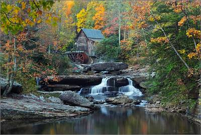 Glade Creek Grist Mill Poster by Daniel Behm