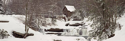 Glade Creek Grist Mill In Winter Poster by Panoramic Images