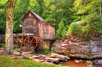 Glade Creek Mill  Poster by Gregory Ballos