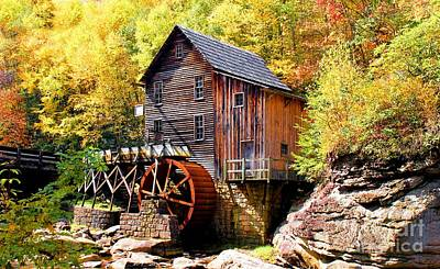 Glade Creek Mill West Virginia Poster by Laurinda Bowling
