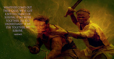 Poster featuring the photograph Gladiator  by Brian Reaves