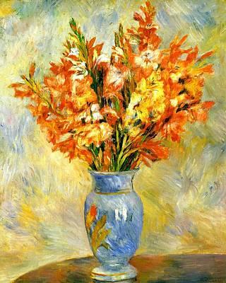 Gladioli Poster by Pierre-Auguste Renoir