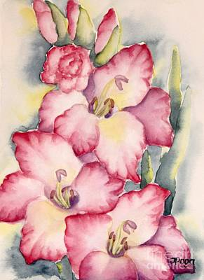 Gladiolus In Pink Poster