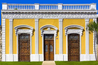 Glamorous Architecture On Paseo De Montejo - Merida Poster by Mark Tisdale