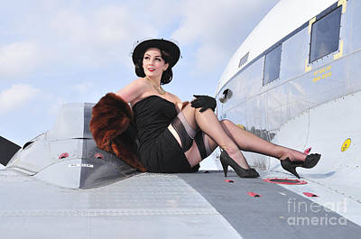 Glamorous Woman In 1940s Style Attire Poster