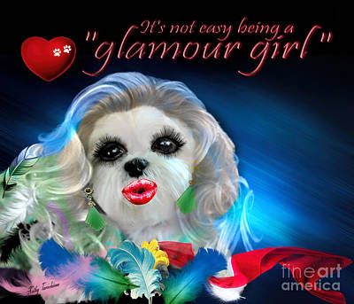 Poster featuring the digital art Glamour Girl-3 by Kathy Tarochione