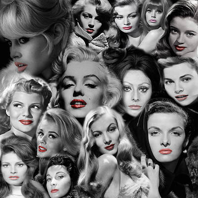 Glamour Girls 1 Poster by Andrew Fare