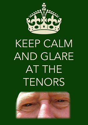 Glare At The Tenors Poster