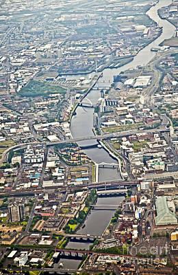 Glasgow Aerial Poster by Liz Leyden
