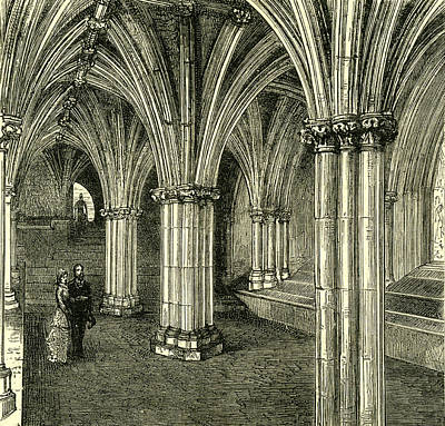 Glasgow Cathedral 1880 The Crypt Poster by English School