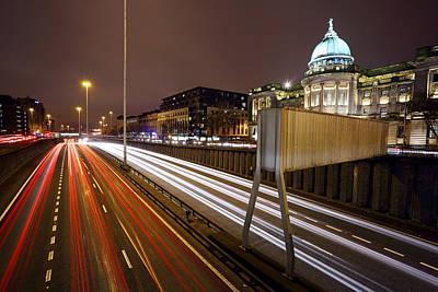 Glasgow Rush Hour Poster by Grant Glendinning