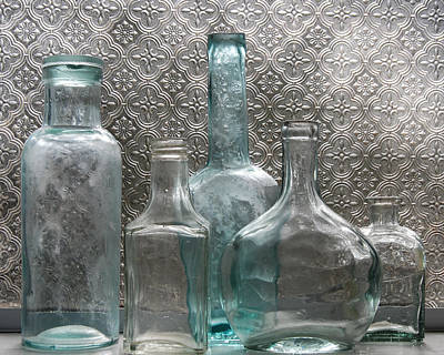 Poster featuring the photograph Glass Bottles 1 by Jocelyn Friis