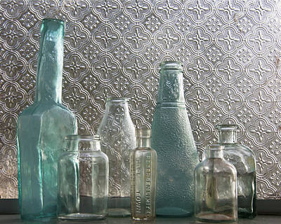 Poster featuring the photograph Glass Bottles 2 by Jocelyn Friis