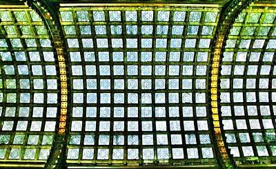 Glass Ceiling In Paris Court - Hungary - Budapest Poster by Marianna Mills