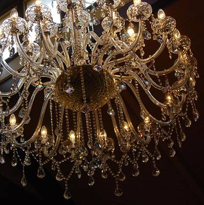Poster featuring the photograph Glass Chandelier by Jocelyn Friis