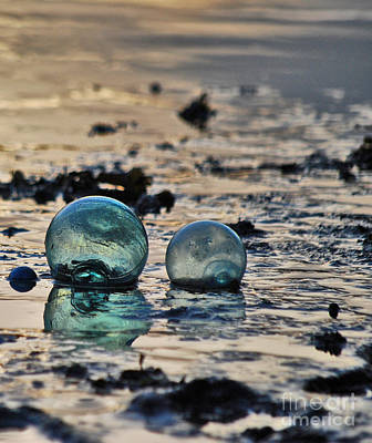 Poster featuring the photograph Glass Float At Sunset by Cynthia Lagoudakis