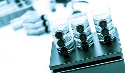 Glass Medicine Bottles Poster by Wladimir Bulgar