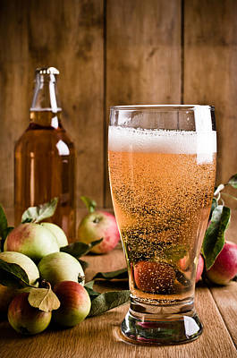 Glass Of Cyder Poster by Amanda Elwell