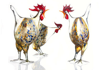 Glass Poultry Poster by Dirk Ercken