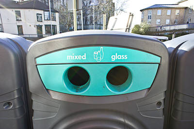Glass Recycling Poster by Tom Gowanlock