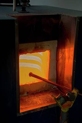 Glassblower's Furnace Poster by Photostock-israel