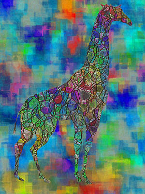 Glassed Giraffe Poster