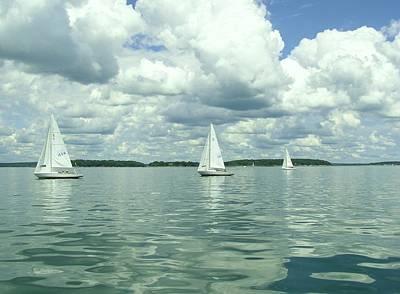 Glassy Sailing Poster by John Wartman
