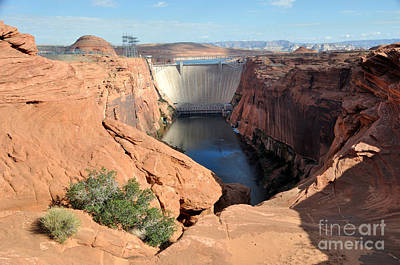 Glen Canyon Dam On The Colorado River Poster
