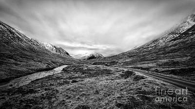 Glen Etive Road And River Poster by John Farnan