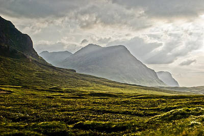 Poster featuring the photograph Glencoe Scotland by Sally Ross