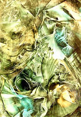 Glimpse Of New Gold Poster by Cristina Handrabur