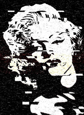 Glitch Art Marylin Monroe Poster by Georgeta Blanaru
