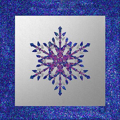 Glitter Blue Star Poster
