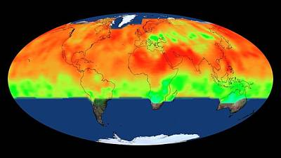 Global Co2 Concentrations Poster by Nasa's Scientific Visualization Studio