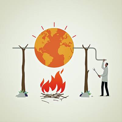 Global Warming Poster by Mark Airs