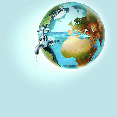 Global Water Supply Poster by Smetek