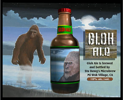 Poster featuring the digital art Gloh Ale by Stuart Swartz