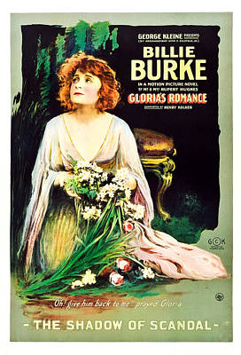 Glorias Romance, Billie Burke, Chapter Poster by Everett