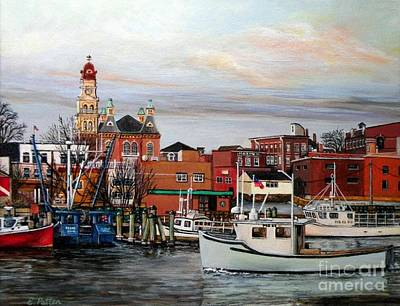 Gloucester Harbor Poster by Eileen Patten Oliver