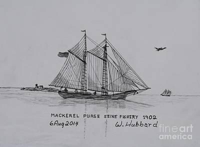 Gloucester Mackerel Seiner #1 Of A Series Poster by Bill Hubbard