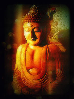 Poster featuring the photograph Glowing Buddha by Paul Cutright
