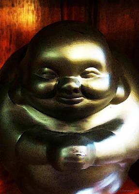 Glowing Buddha - Zen Art By Sharon Cummings Poster by Sharon Cummings