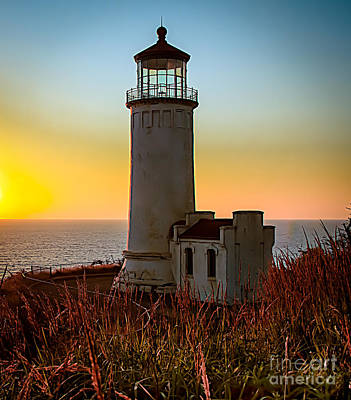 Glowing Lighthouse Poster by Robert Bales