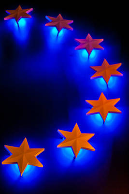 Glowing Stars Of Freedom Poster