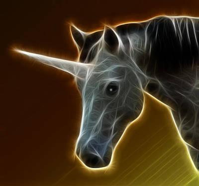 Glowing Unicorn Poster