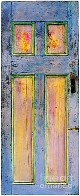 Glowingthrough Painted Door Poster by Asha Carolyn Young